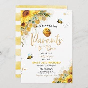 Bee Baby Shower Gender Neutral Parents To Bee Invitation