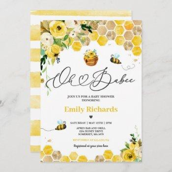 Bee Baby Shower Oh Babee Mommy To Bee Baby Shower Invitation