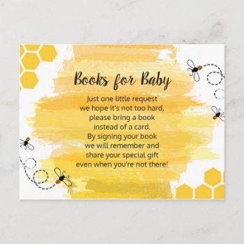 Bee Books For Baby Enclosure Card