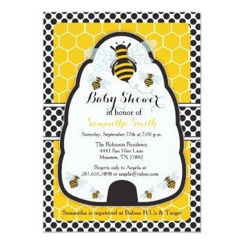 Bee Hive Baby Shower/birthday Invitation