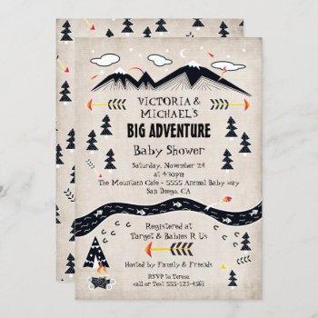 Big Adventure Rustic Mountain Tribal Baby Shower
