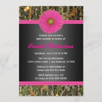 Black And Pink, Camo, Girl Baby Shower