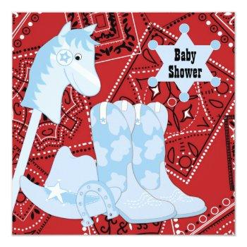 Black Red Cowboy Boots Cowboy Baby Shower Invitation