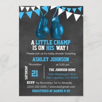 Blue Boy Boxe Boxing Baby Shower