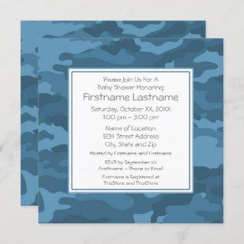 Blue Camo Baby Boy Shower Or Party