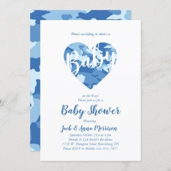 Blue Camo Baby Shower Camouflage Country Boy