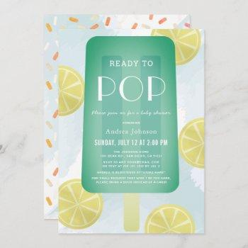 Blue Green Popsicle Watercolor Boy Baby Shower