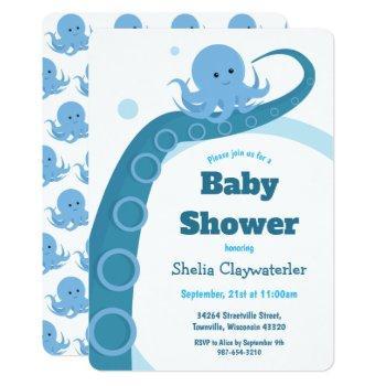 Blue Octopus | Baby Shower Invitation