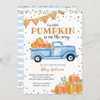 Blue Pumpkin Truck Baby Shower