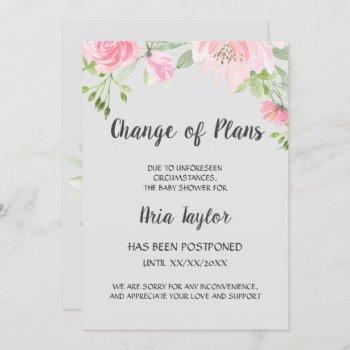 Blush Peonies Change Of Plans Shower Announcement
