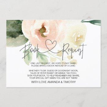Blush Pink Floral Baby Shower Book Request