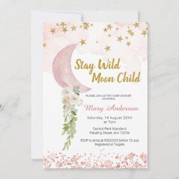 Blush Pink Star And Moon Baby Shower