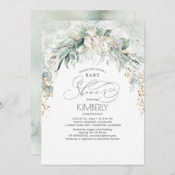 Bohemian Greenery Romantic Summer Baby Shower Invitation