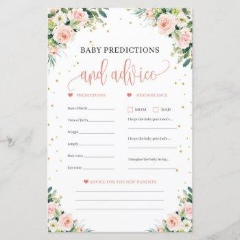 Boho Baby Predictions And Advice Game  Blush