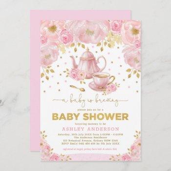 Boho Blush Pink Gold Baby Shower Tea Party