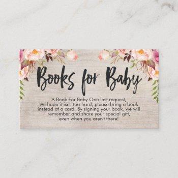 Boho Book Request Card Insert Business Card Size