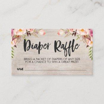 Boho Diaper Raffle  Insert   Size