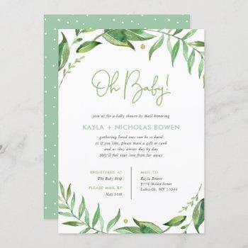 Boho Leaves Baby Shower By Mail