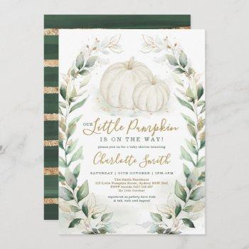 Boho Pumpkin Fall Greenery Gold Wreath Baby Shower