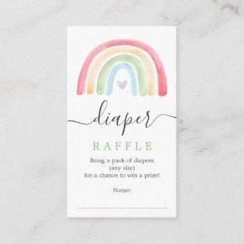 Boho Rainbow Diaper Raffle Baby Shower Card