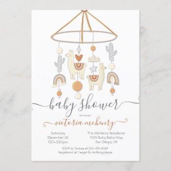 Boho Scandi Mobile Baby Shower