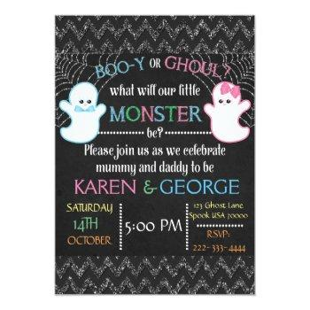 Boo-y Or Ghoul Halloween Gender Reveal Invite