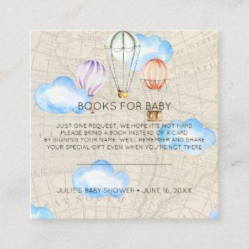 Book Request | Hot Air Balloon Baby Shower Insert