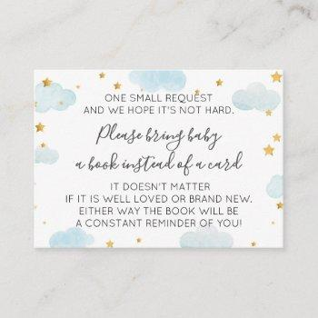 Book Request Moon & Stars Baby Shower Enclosure Card