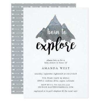 Born To Explore Baby Shower Invitation