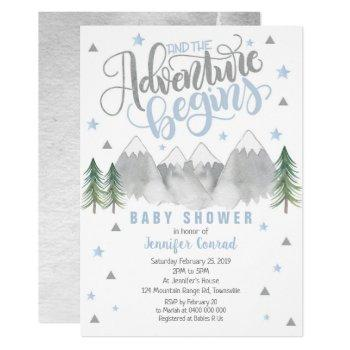 Boy Adventure Baby Shower Invitation