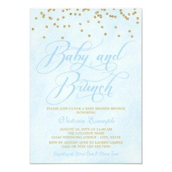 Boy Baby Brunch Baby Shower Invitations