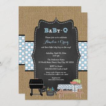 Boy Baby-q Baby Shower, Bbq Baby Shower Invitation