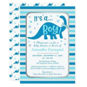 Boy Baby Shower Invitation Dinosaur