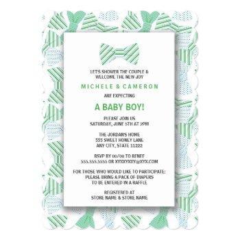 Boy Bow Tie Baby Shower Invite Bowtie Bowties Ties