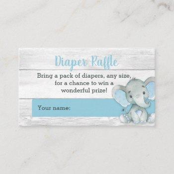 Boy Elephant Diaper Raffle Cards