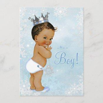 Boy Winter Wonderland Snowflake Ethnic Baby Shower