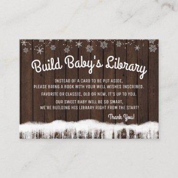 Boys Bring A Book  Rustic Wood Snowflake
