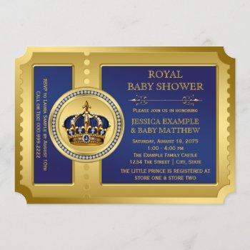 Boys Royal Baby Shower Invitation