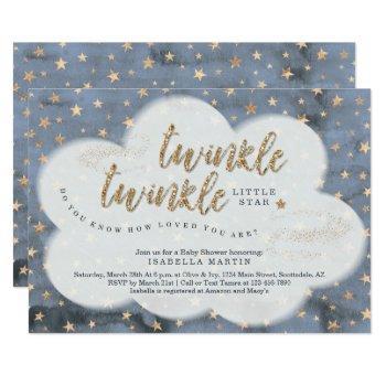Boys Twinkle Twinkle Little Star Baby Shower Invitation