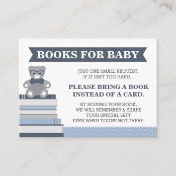 Bring A Book Card, Little Man, Teddy Bear Enclosure Card
