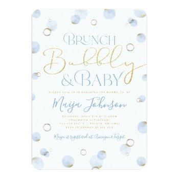 Brunch Bubbly And Baby Shower Invitation