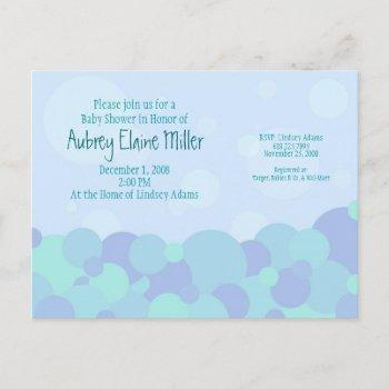 Bubbles Baby Shower Invitation