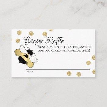 Bumble Bee Baby Diaper Raffle Enclosure Card