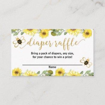 Bumble Bee Yellow Baby Shower Diaper Raffle