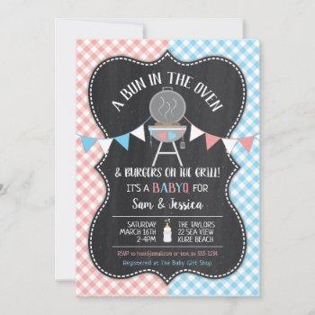 Bun In The Oven Gender Reveal Baby Shower Invitation