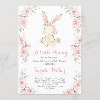 Bunny Baby Shower Girl Invitation