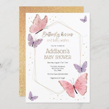 Butterfly Kisses And Baby Wishes Baby Shower