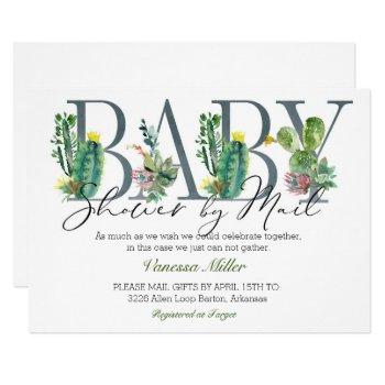 Cactus Baby Shower By Mail Invitation