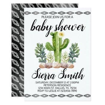 Cactus Baby Shower Invitation Invite