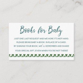 Cactus Books For Baby Enclosure Card